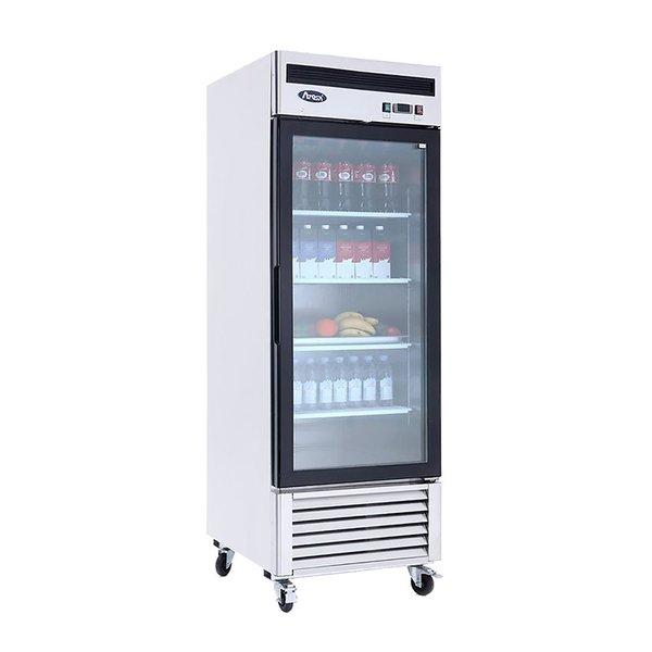 Atosa Glass Door Refrigerator Bottom Mount MCF8705