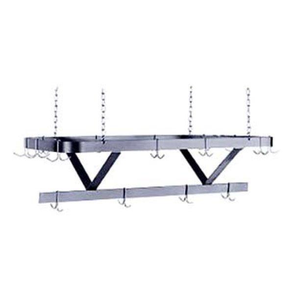 """Klinger's Trading Klinger's Trading SC-48 Pot Rack Ceiling Mount 48""""W x 22""""D Triple Bar Design"""