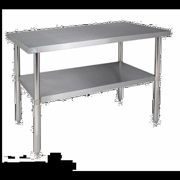 Klinger's Trading Klinger's Trading SG 3048  Work Table, Stainless Steel Top, Galvanize Legs & Adjustable Undershelf