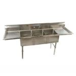 "Klinger's Trading Klingers Trading ECS32D Economy Sink Three Compartment 84""W x 25-1/2""D x 41""h"