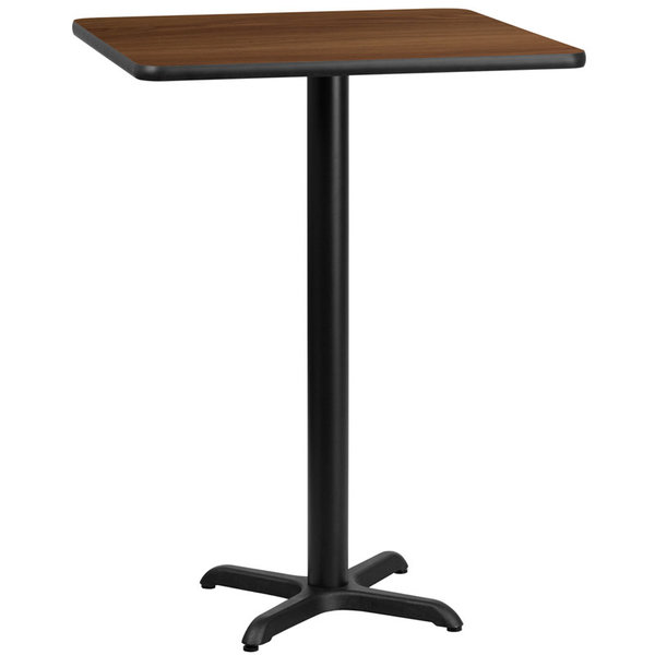 MKLD MKLD 30'' SQUARE LAMINATE TABLE TOP with 22'' X 22'' BAR HEIGHT TABLE BASE