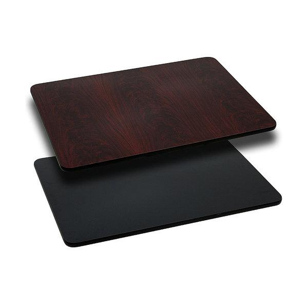 "Flash Furniture Flash furniture 30"" X 48"" RECTANGULAR TABLE TOP WITH REVERSIBLE TOP"