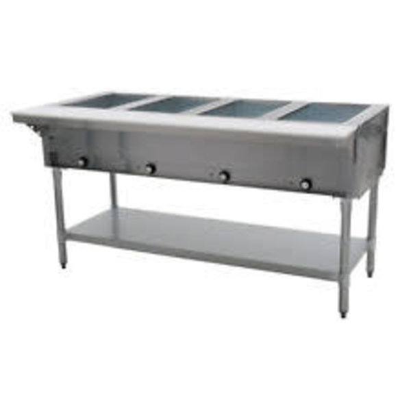 Klinger's Trading Klingers Trading SW-4H-120 Sealed Well Electric Table Stationary 4 Pan