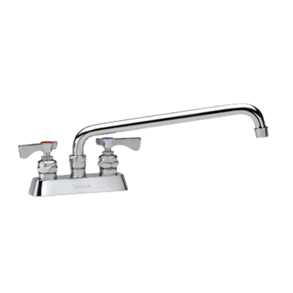 "Krowne Krowne 15-312L Royal Series Faucet, Deck-Mount, 4"" Centers, 12"" Swing Spout"