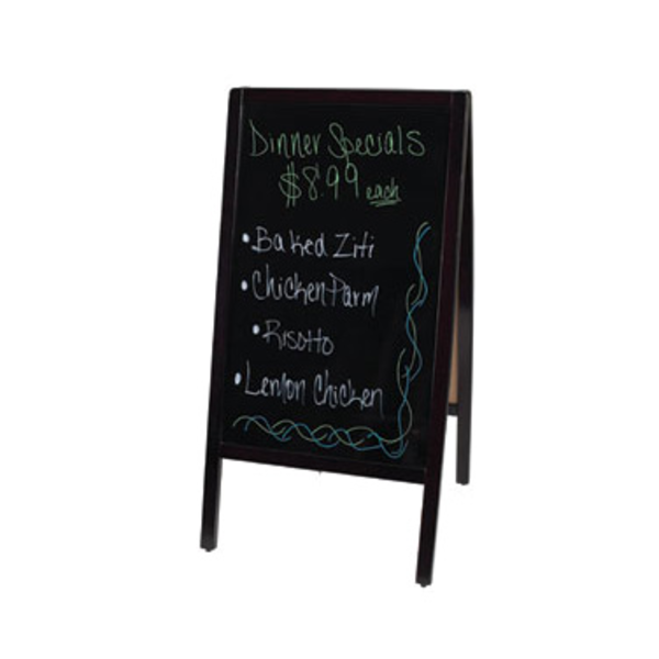 Winco Winco MBAF-3 Marker Board Dual Sided Mahogany With 4 Markers