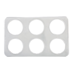 """Winco Winco ADP-444 Adapter Plate 21""""W x 13""""D (6) 4-3/4"""" Holes Fits 2-1/2 qt. insets"""