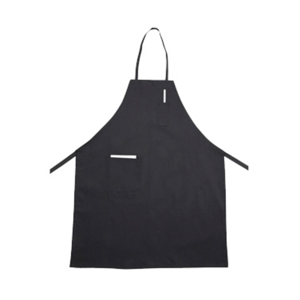 Winco Winco BA-PBK Bib Apron Poly-Cotton With Two Pockets Black