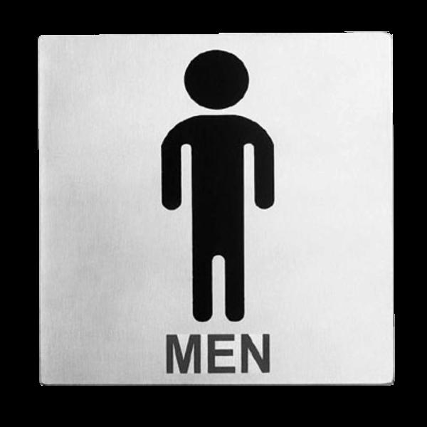 "TableCraft Tablecraft B10 Cash & Carry Sign 5"" x 5"" 'Men' Restroom"