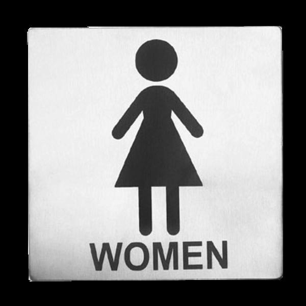 """TableCraft TableCraft B11 Cash & Carry Sign 5"""" x 5"""" 'Women' Restroom"""
