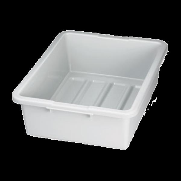 """TableCraft TableCraft 1557G Gray 21"""" x 17"""" x 7"""" Heavy Duty Polyethylene Plastic Bus Tub Bus Box"""