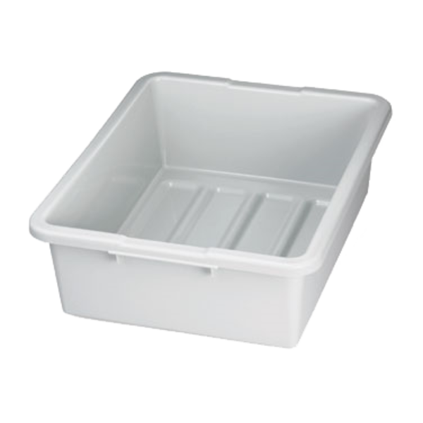 "TableCraft TableCraft 1557G Heavy Duty Tote/Bus Box, 7"", Gray"