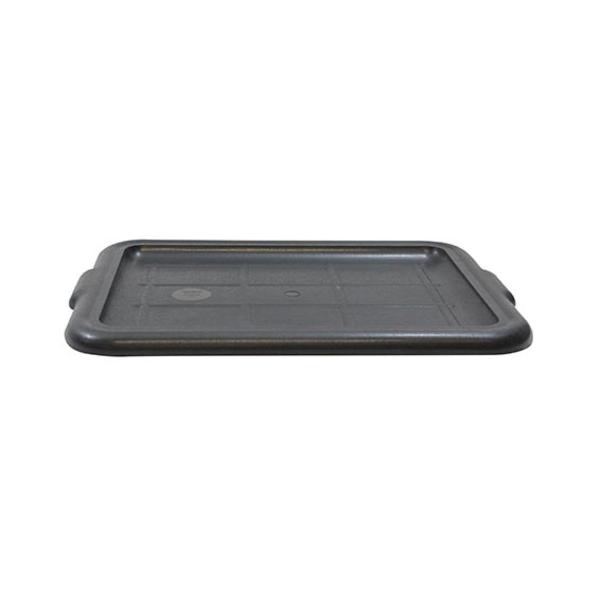 "TableCraft TableCraft 1531B 21"" x 16"" Black Polypropylene Plastic Bus Box Cover"
