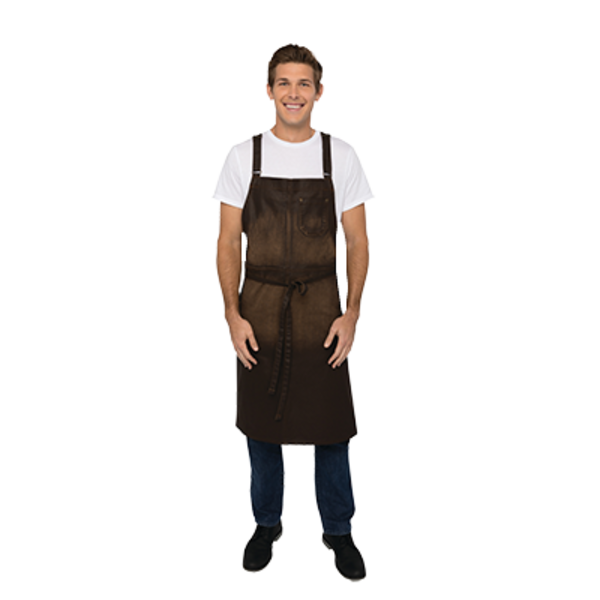 Chef Works Chef Works ACX02-CHO-0 Galveston Chef's Bib Apron, Chocolate