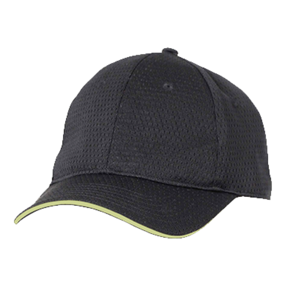 Chef Works Chef Works BCCT-LIM-0 Baseball Cap Chef's Hat, Black with Lime Trim