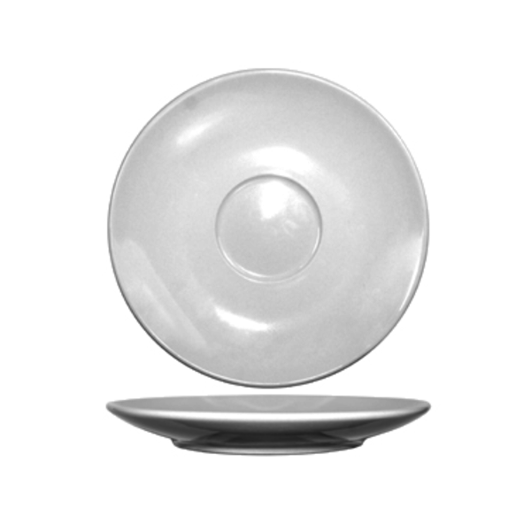 "I.T.I International Tableware International Tableware DO-66 Dover Cappuccino Saucer, Rolled Edge, European White, 6.25"", Round - 3 Dozen"