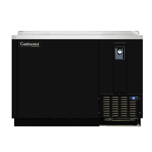 "Continental Refrigerator Continental Refrigerator CBC50 Bottle Cooler Flat Top Black Enamel 50"" W"