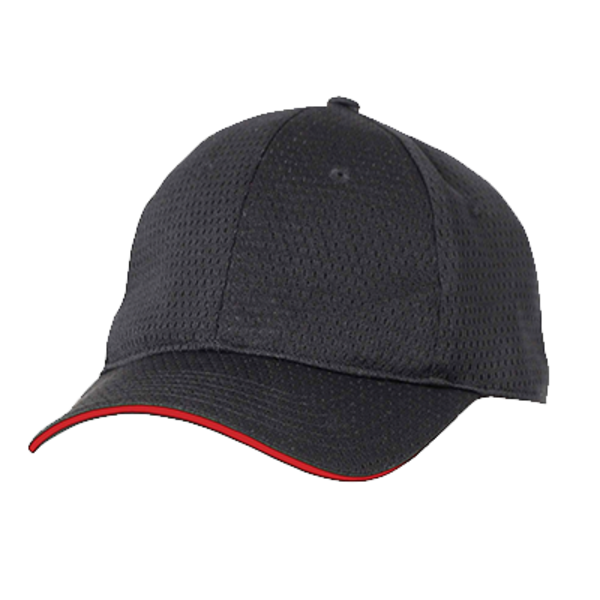 Chef Works Chef Works BCCT-RED-0 Baseball Cap Chef's Hat, Black with Red Trim