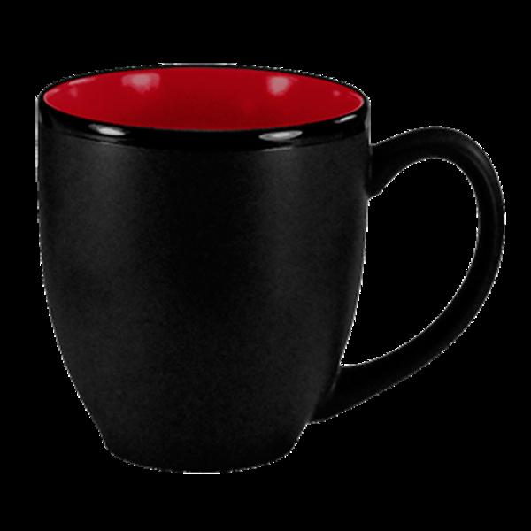I.T.I International Tableware International Tableware 81376-2904 Hilo Bistro Cup, Black & Red, 16 oz., Round - 1 Dozen