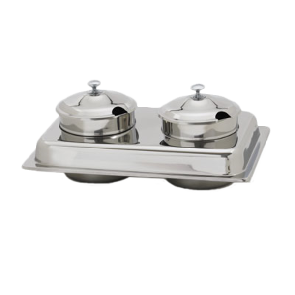 Royal Industries Royal Industries ROY COH SS 2 Chafing Dish Soup Station Set 4 qt. Stainless Steel