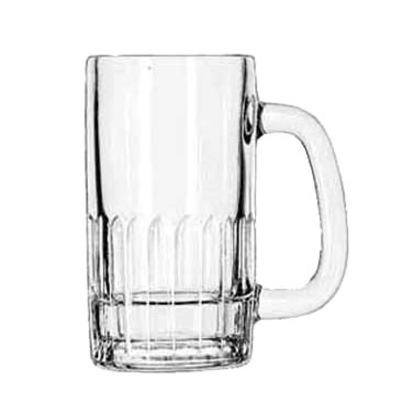 Libbey Libbey 5309 Beer Mug With Handle, Glass, Clear 12 oz., 2 Dozen