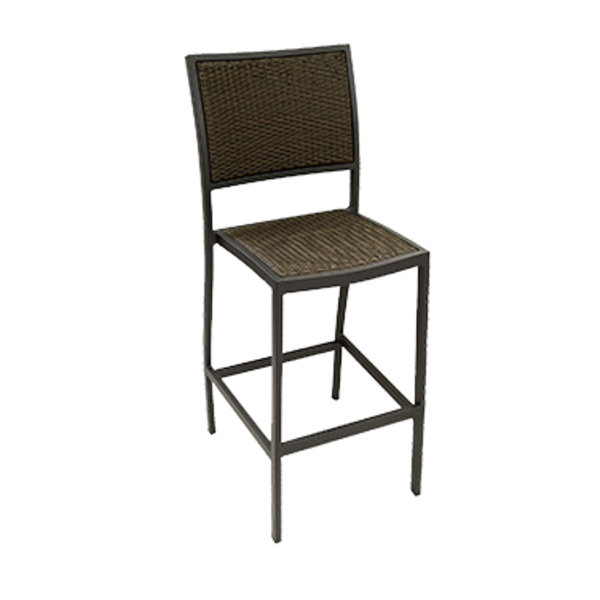 Florida Seating BARSTOOL ARMLESS WEAVE BACK AND SEAT OUTDOOR USE
