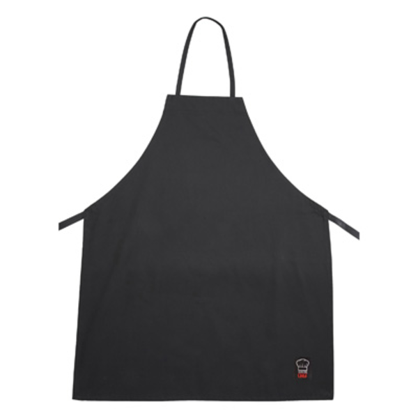 "Winco Winco BA-3226BK Black Full Length Bib Apron - 34""L x 34""W"