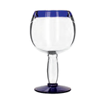 Libbey Libbey 92314 Aruba Cocktail Glass With Cobalt Rim And Base Blue 21 oz.
