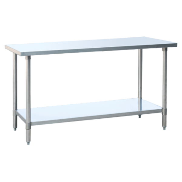 Atosa Atosa SSTW-2460 MixRite Work Table, Stainless Steel, Adjustable Undershelf and Legs, 60""