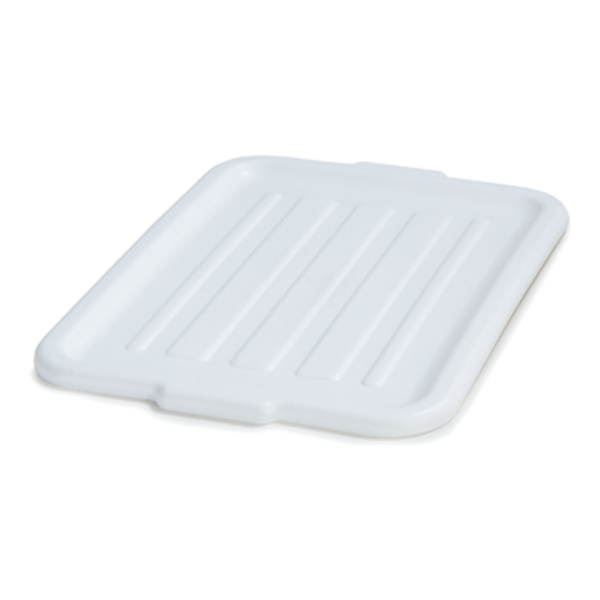 "Carlisle Carlisle N4401202 Comfort Curve™ Universal Lid 20""L x 15""W x 1""H Polypropylene White"