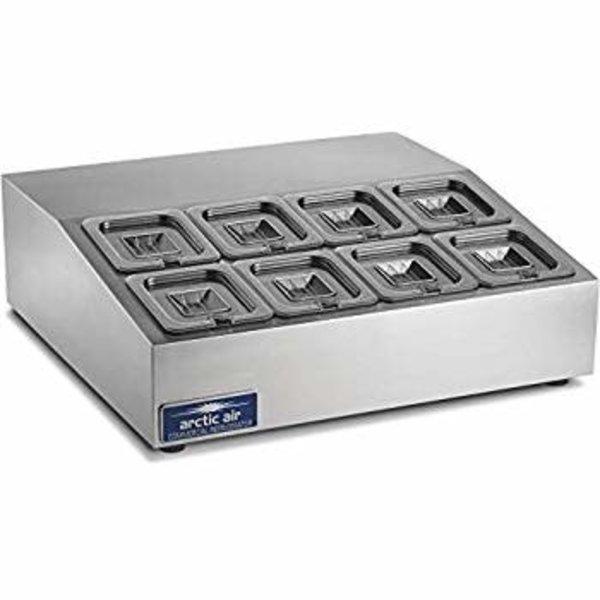 "Arctic Air Arctic Air ACP8SQ Compact Refrigerated Counter-Top Prep Unit, 27.5""W"