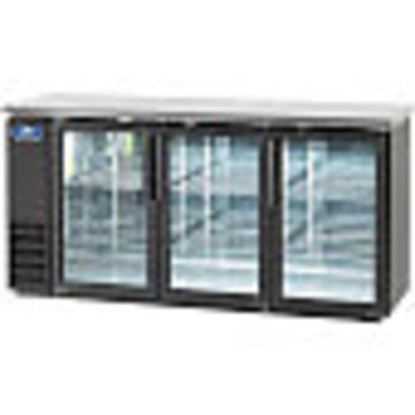 "Arctic Air Arctic Air ABB72GZ Back Bar Refrigerator Three Section 73""W"