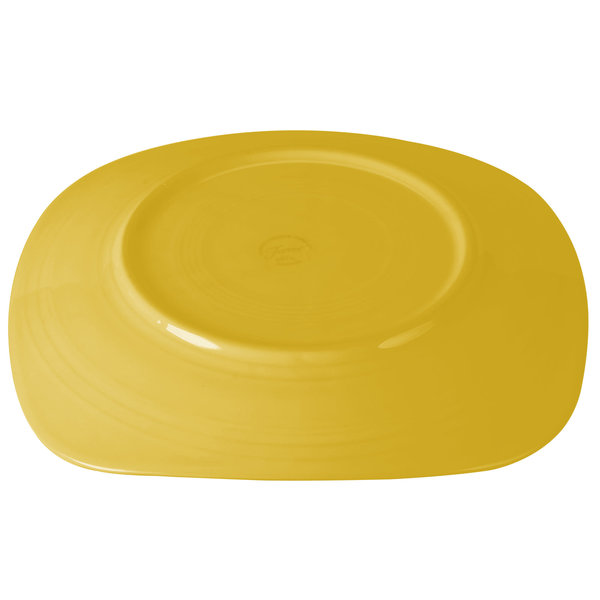 """Homer Laughlin Homer Laughlin 919320 Fiesta Sunflower Square Plate, 10.75"""""""
