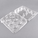 Webstaurant Choice, 12 Compartment Clear Hinged Lid Cupcake Container - 100/Pack
