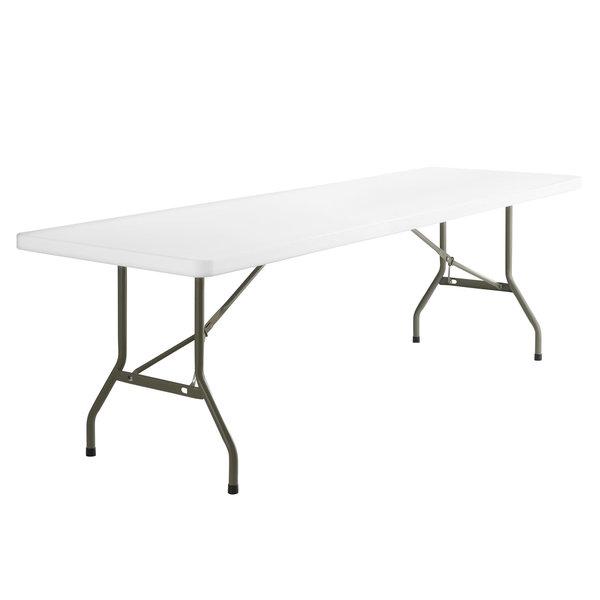 "Flash Furniture Flash Furniture RB-3096-GG Granite White Plastic Folding Table, 30"" x 96"