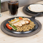 """Lodge Lodge L8NG3 Shallow Round Cast Iron Griddle with Handle, 9"""""""