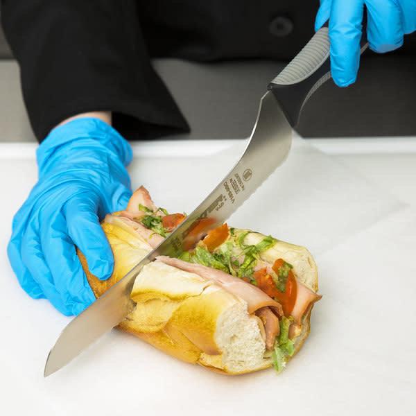 """Dexter-Russell Dexter-Russell 29323 9"""" Scalloped Offset Bread And Sandwich Knife"""