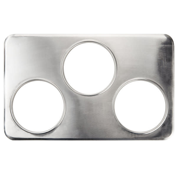 """Winco Winco ADP-666 Steam Table Adapter Plate, 3 Holes - 6 3/8"""""""