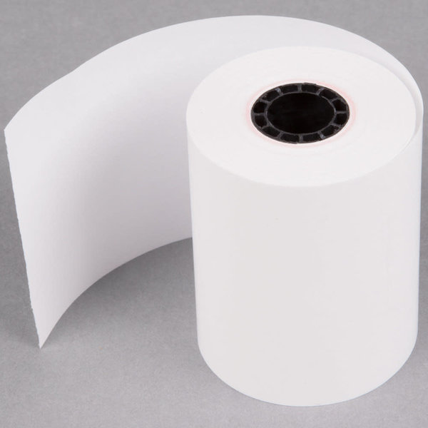"""Point Plus 2 1/4"""" x 85' Thermal Cash Register POS Paper Roll Tape - 50/Case"""