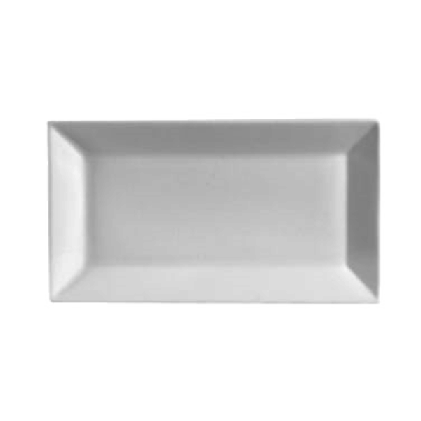 "C.A.C China C.A.C China KSE-51 Kingsquare Platter, Rectangular, White, 14.5"" x 8.25"" - 1 Dozen"