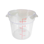Thunder Group Thunder Group PLRFT318PC Round Food Storage Container 18 qt. Clear