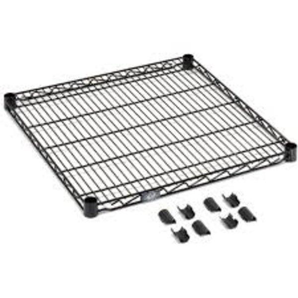 """Nexel Nexel S2472B Standard Wired Shelf, Black Epoxy, 24""""W X 72"""" L"""
