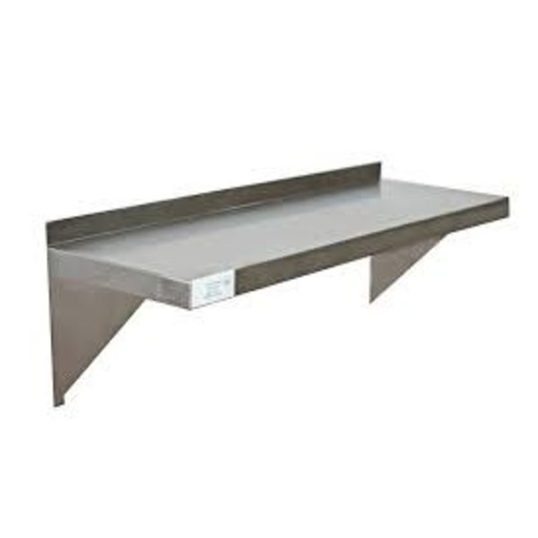 Serv-Ware Serv-Ware SSWS-1448-CWP Solid Shelf, Wall-Mounted, 48''W x 14''D, 11-3/4''