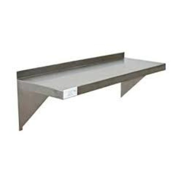 Serv-Ware Serv-Ware SSWS-1460-CWP Solid Shelf, Wall-Mounted, 60''W x 14''D, 11-3/4''H