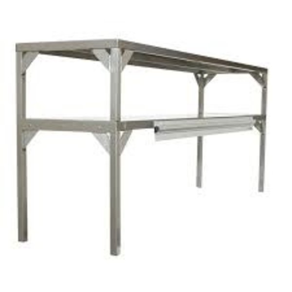"""Delfield AS000-B3P-DT1 Stainless Steel Double Overshelf - 27"""" x 16"""""""