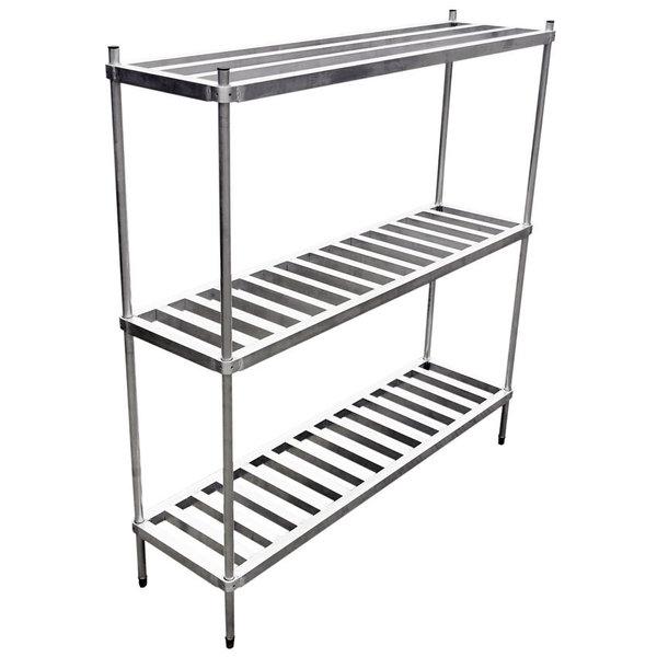 """Omcan Omcan 44615 Keg Rack, 72"""" x 2"""", Keg Capacity 8, Aluminum"""