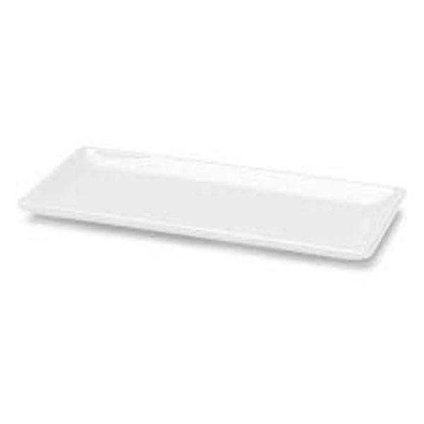 """Elite D126RC Rectangular Melamine Platter, White, 12""""x 15.5"""", Square - EACH"""