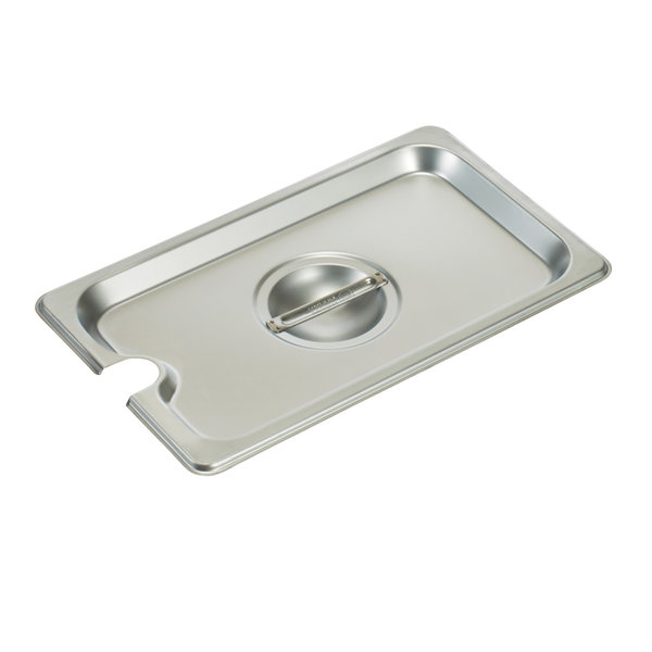 Winco Winco SPCQ S/S Steam Pan Cover, 1/4 size, Slotted