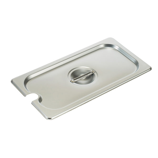 Winco Winco SPCT Steam Table Pan Cover, 1/3 size, slotted, with handle,