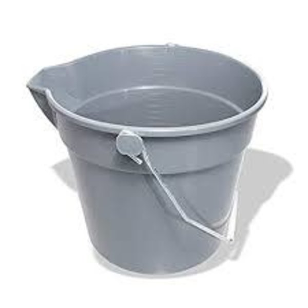 "Crestware Crestware UB Utility Bucket, 2-1/2"" Gallon 10"" x 12"" x 9"" Plastic, Gray"