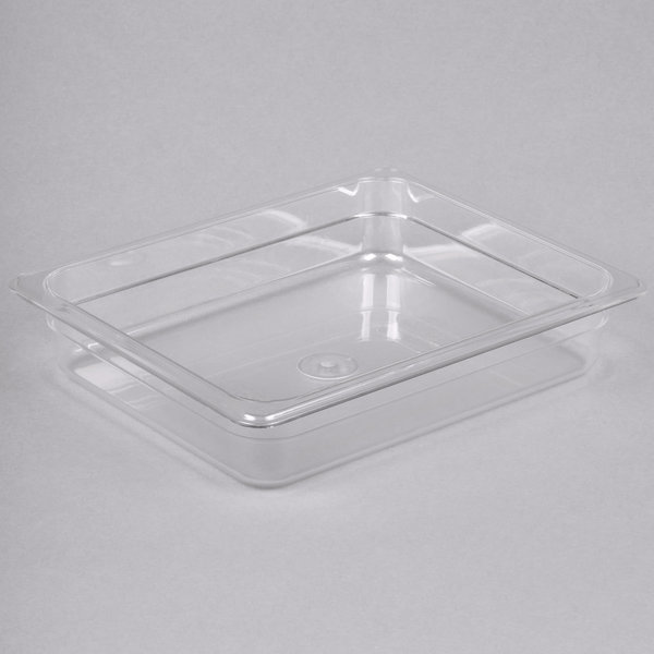 """Thunder Group Thunder Group 1/2 Size Clear Polycarbonate Food Pan - 2 1/2"""" Deep"""
